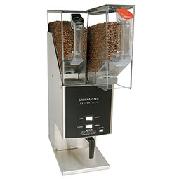 Food Service Coffee Grinder. Three portions and (2) 5.5 lbs. removable hoppers.