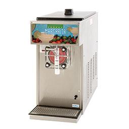 Frozen Beverage Dispenser. Barrel Freezer. Mechanical Control. Single barrel, 0.75 hp, air-cooled, 0.5 hp drive motor.