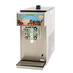 Frozen Beverage Dispenser. Barrel Freezer. Remote condensing, works with up to 2.5 hp, air-cooled, 0.5 hp drive motor.