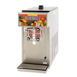 Frozen Beverage Dispenser. Barrel Freezer. Mechanical Control. Single barrel, 1 hp, air-cooled, 0.5 hp drive motor.