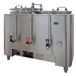 Space Saver Coffee Urn. (2) liners, 6 gallons each.