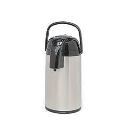 Coffee Airpot. Single (1) 3.0 L, 101 oz., glass-lined, push top airpot.
