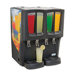Crathco  G-Cool Premix Cold Beverage Dispenser. Mini-Quattro. (4) 2.4 gallon bowls.