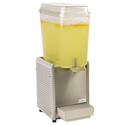 Crathco Classic Bubbler® Premix Cold Beverage Dispenser. (1) 5 gal. bowl. Plastic side panels and drip tray.