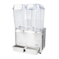 Crathco Classic Bubbler® Premix Cold Beverage Dispenser. (2) 5 gal. bowls. Stainless steel side panels and drip tray.