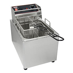 Countertop Electric Fryers. (1) 15 lbs. fry pot with (2) baskets.