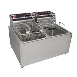Countertop Electric Fryers. (2) 15 lbs. fry pots with (4) baskets.