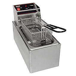 Countertop Electric Fryers. (1) 6 lbs. fry pot with (1) basket.