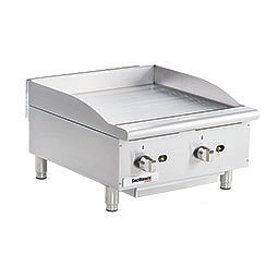 Medium Duty Gas Griddle. Cooking surface 24 x 20. 2 burners.