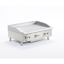 Medium Duty Gas Griddle. Cooking surface 36 x 20. 3 burners.