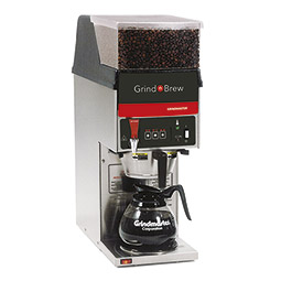 Grind'n Brew Coffee System. Single decanter brewer with single 5.5 lbs. bean hopper.