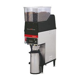 Grind'n Brew Coffee System. Single 2.2 L airpot brewer with dual 6.5 lbs. bean hoppers.