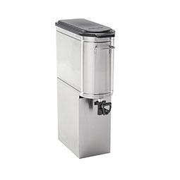 Stainless Steel Iced Tea Dispenser. Tomlinson® down-facing valve.