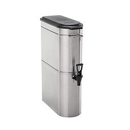 Stainless Steel Iced Tea Dispenser. Tomlinson® front valve.