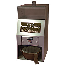 AL-LEN™ Ground Coffee Dispenser. Dispenses directly into a brew basket up to 8.75 in diameter.