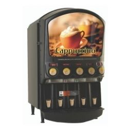 Hot Powder Cappuccino, Hot Chocolate, & Specialty Beverage Dispenser. 5 hoppers, 5 lbs. capacity.