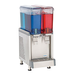 Simplicity Bubbler® Premix Cold Beverage Dispenser. (2) 2.4 gallon bowls, agitator model.
