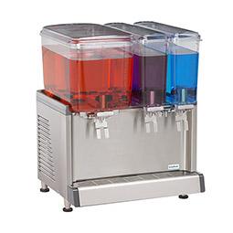 Simplicity Bubbler® Premix Cold Beverage Dispenser. (1) 4.75 gallon bowl and (2) 2.4 gallon bowls, agitator model.