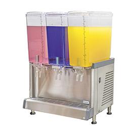 Simplicity Bubbler® Premix Cold Beverage Dispenser. (3) 4.75 gallon bowls, agitator model.