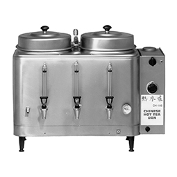 Chinese Hot Tea Urn. Twin, 3 gallon. Electro-Mechanical timer.