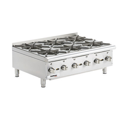 Gas Hot Plates. Cooking Surface: 36 W x 20 D, (6) burners.