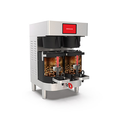 PrecisionBrew Air-Heated Shuttle. Twin digitally controlled brewer with virtual sight glass